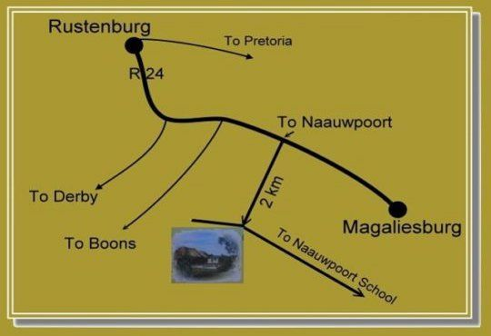 Map Riverbend Self Catering Cottages in Magaliesburg  West Rand  Gauteng  South Africa