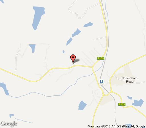 Map The Nottingham Road Hotel in Nottingham Road  Midlands  KwaZulu Natal  South Africa