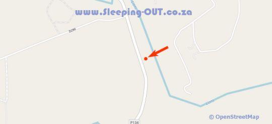 Map Otters Den Self Catering in Nottingham Road  Midlands  KwaZulu Natal  Zuid-Afrika