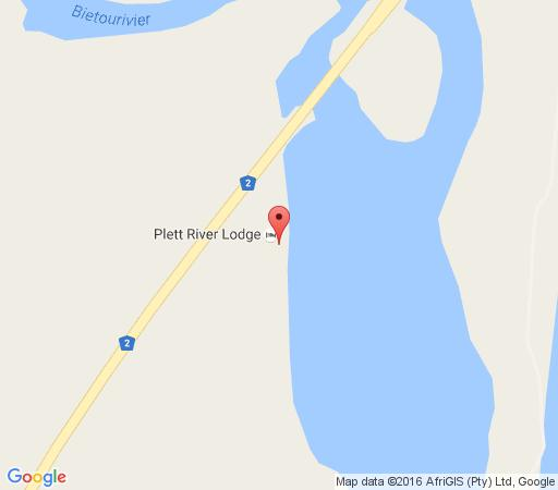 Map Plett River Lodge in Plettenberg Bay  Garden Route  Western Cape  South Africa