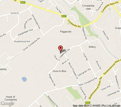 Map Groot Constantia Villa in Constantia (CPT)  Southern Suburbs (CPT)  Cape Town  Western Cape  South Africa