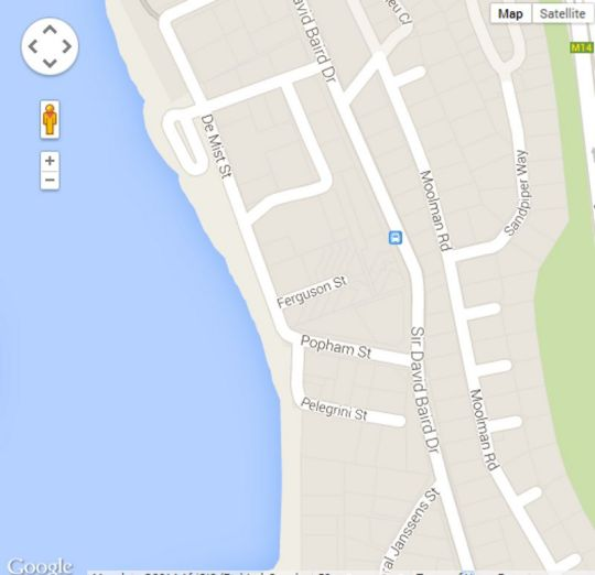 Map Small Bay Guest House in Bloubergstrand  Blaauwberg  Cape Town  Western Cape  South Africa