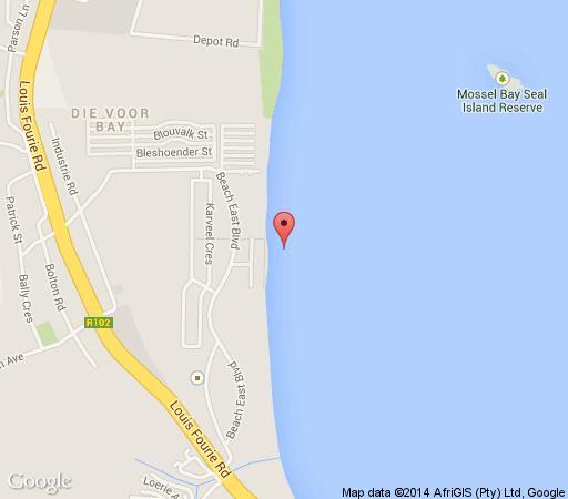 Map Diaz Beach Apartment in Diaz Beach  Garden Route  Western Cape  South Africa