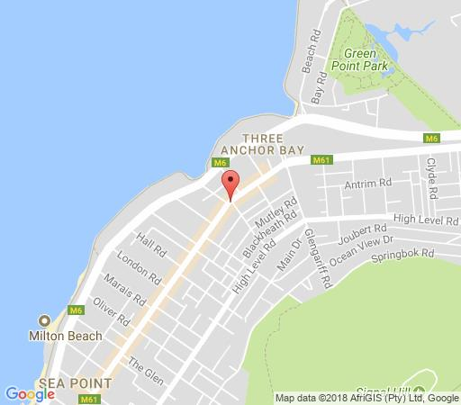 Map Centurion All Suite 104 in Sea Point  Atlantic Seaboard  Cape Town  Western Cape  South Africa