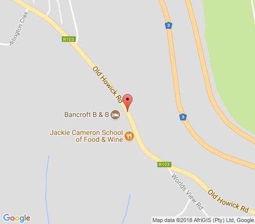 Map Bancroft B&B in Hilton  Pietermaritzburg  Midlands  KwaZulu Natal  South Africa