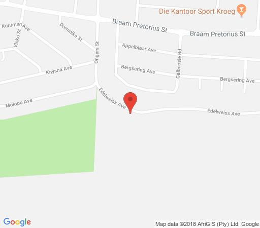 Map Edelweiss Corporate Guesthouse in Magalieskruin  Pretoria North  Pretoria / Tshwane  Gauteng  Afrique du Sud