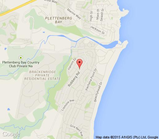Map Ann\'s House in Plettenberg Bay  Garden Route  Western Cape  South Africa