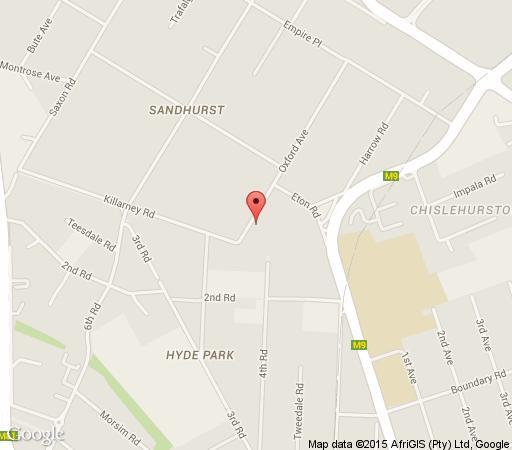 Map Sandton Boutique Hotel in Sandhurst  Sandton  Johannesburg  Gauteng  South Africa