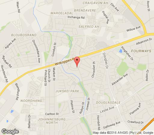 Map 440 Riverglades in Fourways  Sandton  Johannesburg  Gauteng  South Africa