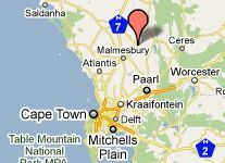 Map De Langenhof Guest House in Riebeek West  Cape Winelands  Western Cape  South Africa