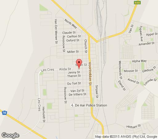 Map The Guest House in De Aar  Upper Karoo  Northern Cape  South Africa