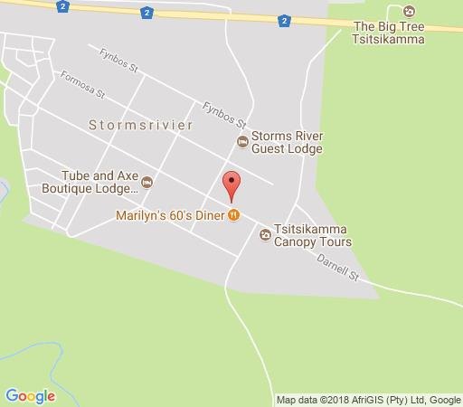 Map The Village Lodge in Storms River  Tsitsikamma  Garden Route  Western Cape  South Africa