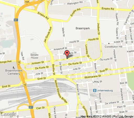 Map The Devonshire  in Braamfontein  Northcliff/Rosebank  Johannesburg  Gauteng  South Africa