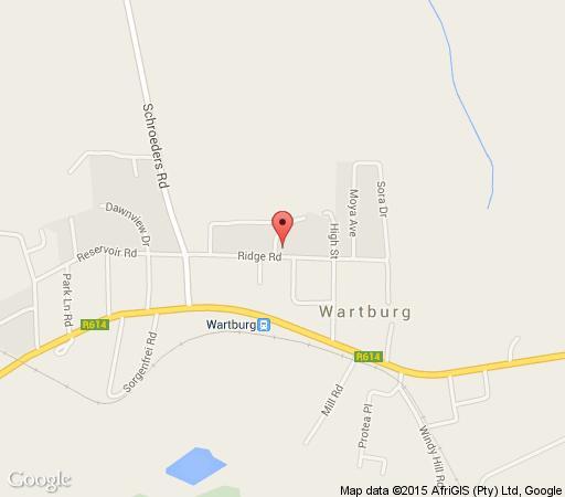 Map Wartburger Hof Hotel in Wartburg  Midlands  KwaZulu Natal  South Africa