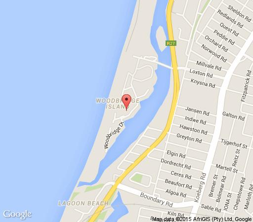 Map Cape Beach House in Milnerton  Blaauwberg  Cape Town  Western Cape  South Africa
