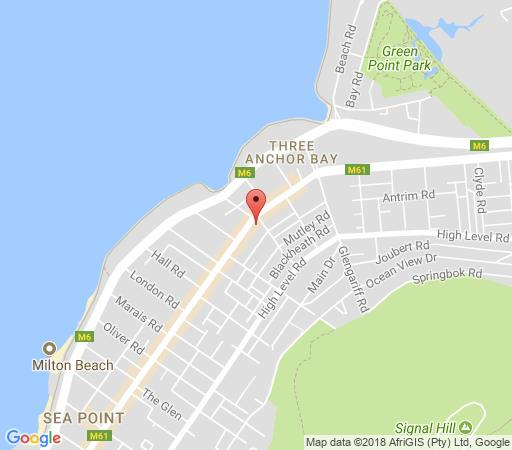 Map Centurion All Suite 601 in Sea Point  Atlantic Seaboard  Cape Town  Western Cape  South Africa