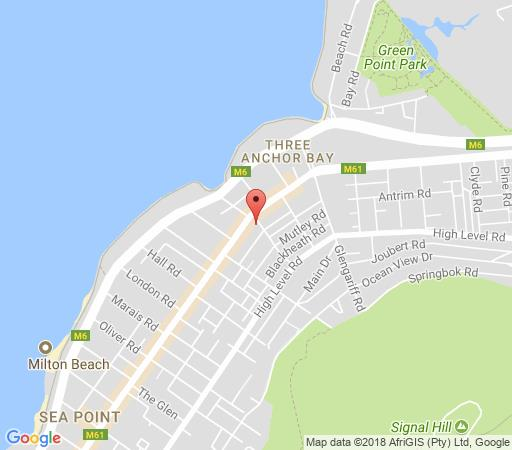 Map Centurion All Suite 609 in Sea Point  Atlantic Seaboard  Cape Town  Western Cape  South Africa