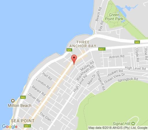 Map Centurion All Suite 708 in Sea Point  Atlantic Seaboard  Cape Town  Western Cape  South Africa