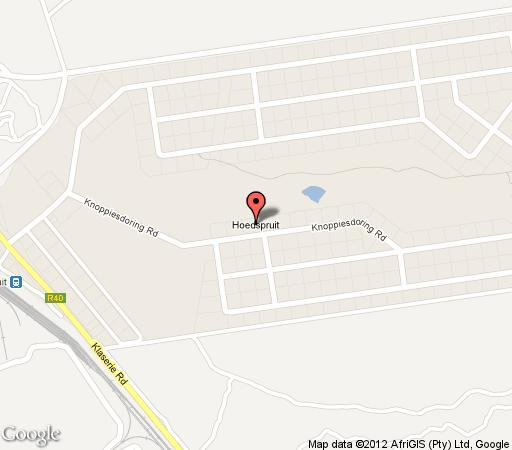 Map Hoedspruit Lodge 603 in Hoedspruit  Valley of the Olifants  Limpopo  South Africa