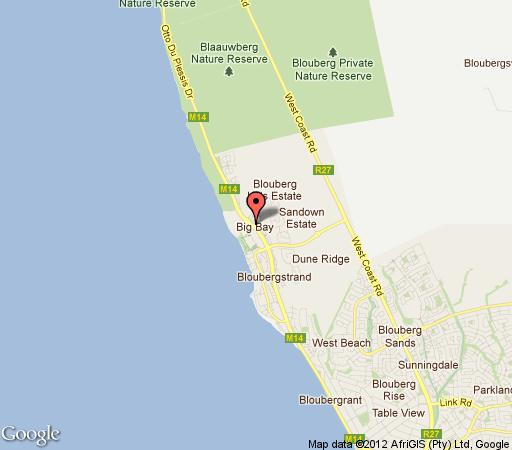 Map Zia\'s Accommodation Eden on Bay in Bloubergstrand  Blaauwberg  Cape Town  Western Cape  South Africa