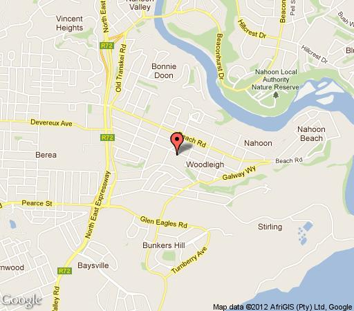 Map Kennington Palms B&B Or Self Catering in Nahoon  East London  Amatole  Eastern Cape  South Africa