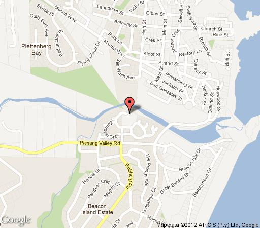 Map 23 Riverclub Villas in Plettenberg Bay  Garden Route  Western Cape  South Africa