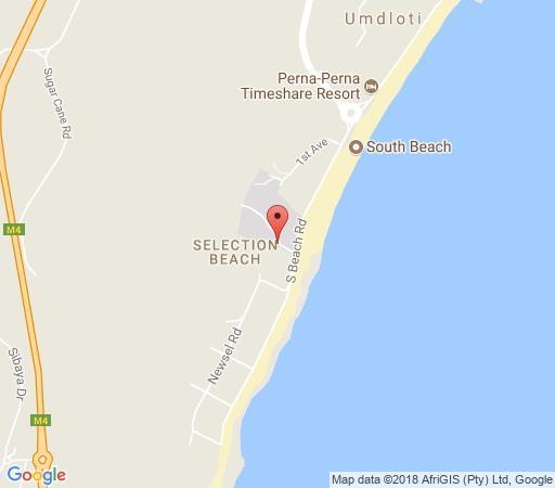 Map Die Strandhuis in Umdloti  North Coast (KZN)  KwaZulu Natal  Südafrika