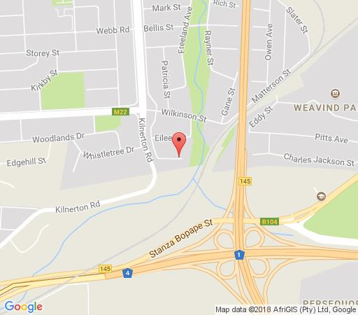 Map Eagle\'s Rest Guest House in Kilner Park  Moot  Pretoria / Tshwane  Gauteng  South Africa