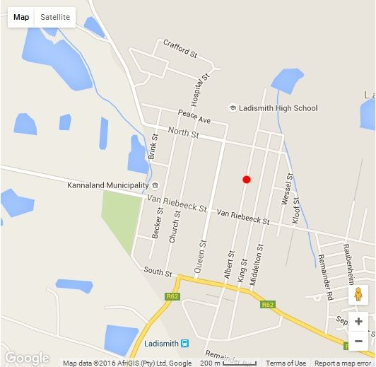 Map Ladismith Mountainview B & B in Ladismith  Klein Karoo  Western Cape  South Africa