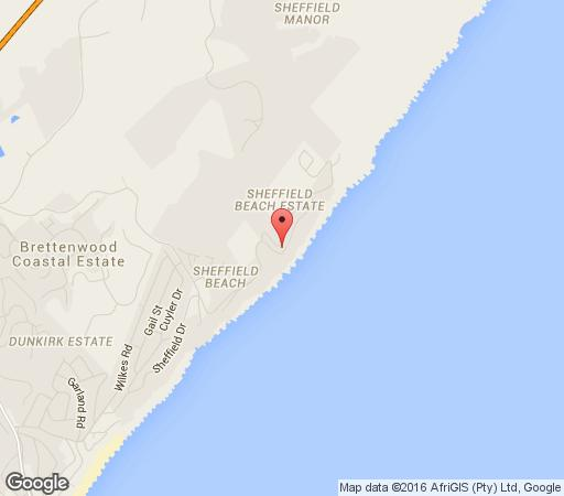 Map Flat 202 Villa Royal in Sheffield Beach  North Coast (KZN)  KwaZulu Natal  South Africa
