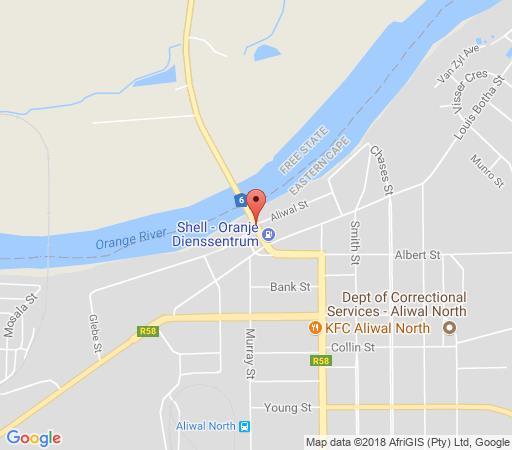 Map Riverside Lodge & Conference Centre in Aliwal North  Drakensberg (EC)  Eastern Cape  South Africa
