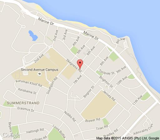 Map At Home B&B in Summerstrand  Port Elizabeth  Cacadu (Sarah Baartman)  Eastern Cape  South Africa
