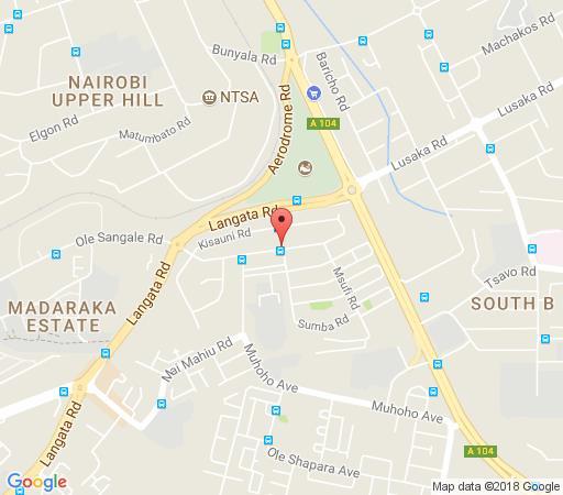 Map Mvuli House in Nairobi  Kenya