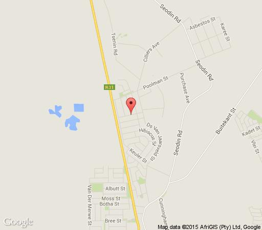 Map Azalea Guest House in Kuruman  Kalahari  Northern Cape  South Africa