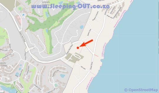 Map Pentire Point 21 in Shaka's Rock  North Coast (KZN)  KwaZulu Natal  Zuid-Afrika