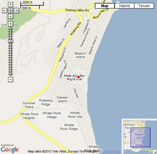 Map Casa del Sole in Plettenberg Bay  Garden Route  Western Cape  South Africa