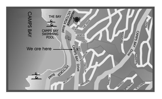 Map 51 On Camps Bay Guest House in Camps Bay  Atlantic Seaboard  Cape Town  Western Cape  South Africa