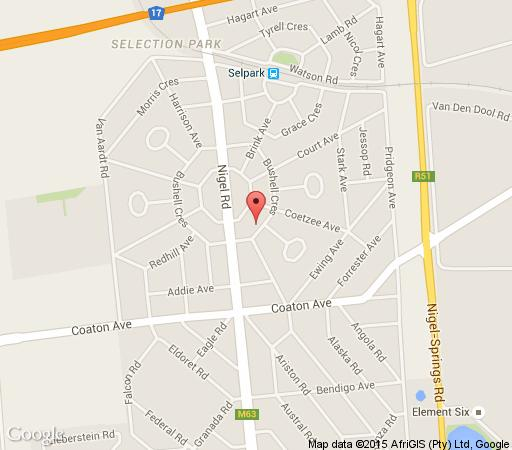 Map Bushell Place in Springs  Ekurhuleni (East Rand)  Gauteng  South Africa