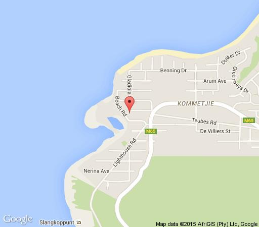 Map Somerset Place  in Kommetjie  False Bay  Cape Town  Western Cape  South Africa