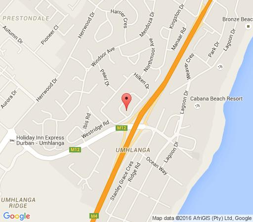 Map Paul\'s Guest House in Umhlanga Rocks  Umhlanga  Northern Suburbs (DBN)  Durban and Surrounds  KwaZulu Natal  South Africa