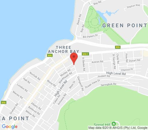 Map Green Point Self Catering Studios in Sea Point  Atlantic Seaboard  Cape Town  Western Cape  South Africa