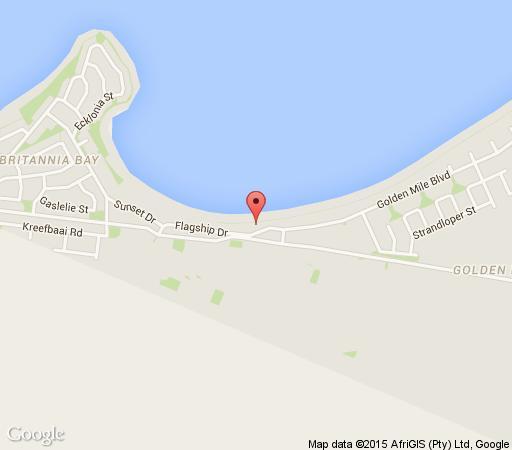Map 10 Golden Mile Boulevard in Britannia Bay  West Coast (WC)  Western Cape  South Africa