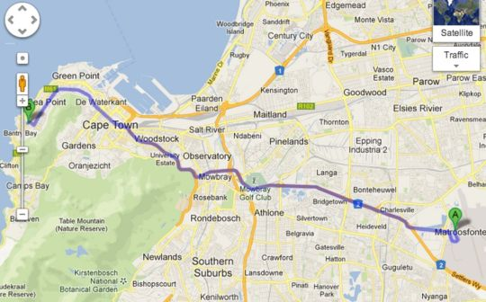 Map Grande Kloof Boutique Hotel in Fresnaye  Atlantic Seaboard  Cape Town  Western Cape  South Africa