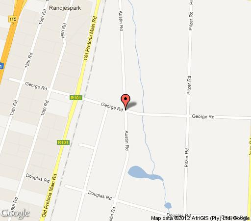 Map The Gum Tree Manor in Halfway House  Midrand  Johannesburg  Gauteng  South Africa