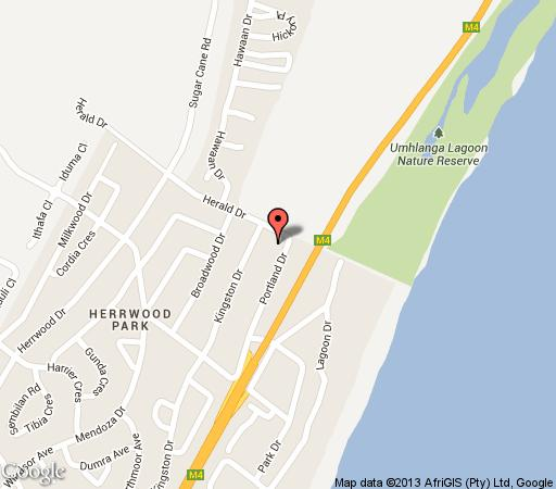 Map La Loggia on Portland in Umhlanga Rocks  Umhlanga  Northern Suburbs (DBN)  Durban and Surrounds  KwaZulu Natal  Zuid-Afrika