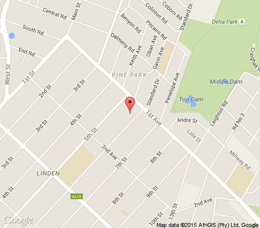 Map Kulanga Cottages  in Linden  Northcliff/Rosebank  Johannesburg  Gauteng  South Africa