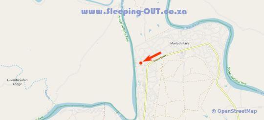 Map Kruger Cottage in Marloth Park  Kruger National Park (MP)  Mpumalanga  South Africa