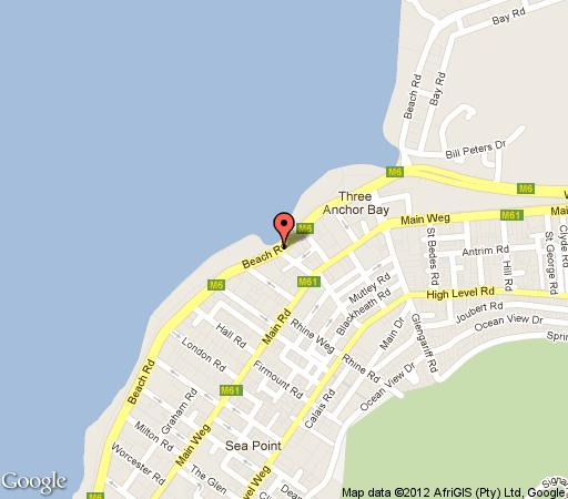 Map Albemarle in Mouille Point  Atlantic Seaboard  Cape Town  Western Cape  South Africa