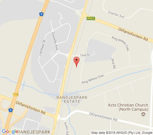 Map Blueberry Lodge in Randjesfontein  Midrand  Johannesburg  Gauteng  South Africa