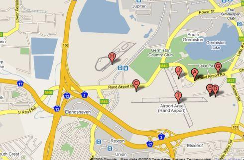 Map Dakota Lodge in Germiston  Ekurhuleni (East Rand)  Gauteng  South Africa